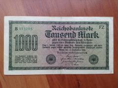 1000 рейхмарок 1922