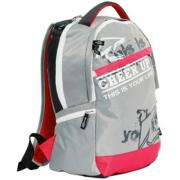 Backpack CHEER UP Town grey/red OLLI, 2U-0515, 447707