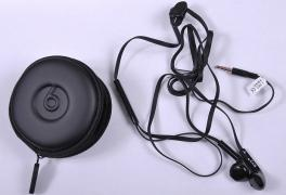 BYZ earphone stereo headset complete with case