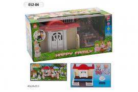 """Домик """"HAPPY FAMALY"""" с животными в коробке"""