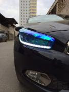 Film for tinting headlights blue chameleon