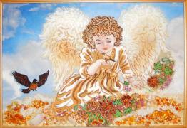 Картины из янтаря - разные сюжеты
