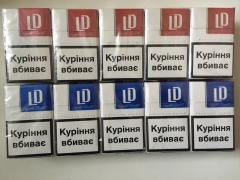 Selling wholesale LD cigarettes (red, blue)