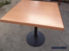 Table tops, Bases for tables, Tables used