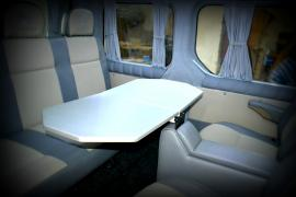 The table to the car table in the van, the side table in the auth
