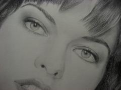 Внимание!!!Портрет американской актрисы Миллы Йовович 50/70см