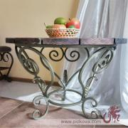 Wrought iron table, original wrought-iron table, metal table