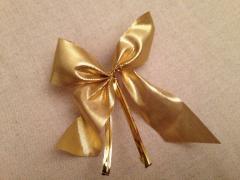 """Золотистые """"бантики"""" на новогоднюю елку"""